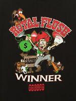 Nugget Casino Reno, Nevada Royal Flush Winner Black T Shirt Size XL