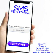 Phone Number Sms Account Verification Code Real Us Sim Card +1 Gmail, apps etc.