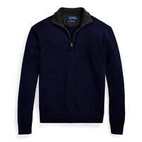 $268 NWT POLO RALPH LAUREN Men's Washable 100% Cashmere Quarter-Zip Sweater XL