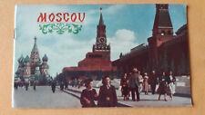 altes Reise Prospekt Intourist Moscou, um 1970, Moskau, französisch