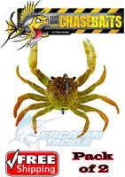 Chasebaits Crusty Crab - Gold Fleck. Twin Pack. The ultimate crab lure. Rigged