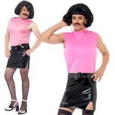 Smiffys 43192L Queen Break Housewife Costume Pink/black Large 42 - 44-in