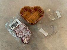 New ListingNew Longaberger 2000 Sweetheart Little Love Red Basket, 2 Protectors & Liner