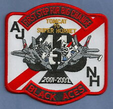 VF-41 BLACK ACES NAVY FIGHTER SQUADRON PATCH 2001-2002 TOMCAT TO SUPER HORNET