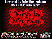 Powered By Fairy Dust Vinyl Sticker Laptop Car Van Window Bitchdust cute girly R
