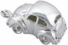 Genuine 925 Solid Sterling Silver VW Beetle Herbie Car Charm/Pendant,Clip on,Box