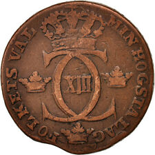 [#95160] Sweden, Carl XIII, 1/2 Skilling, 1815, VF(30-35), Copper, KM:590