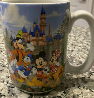 "Disney Parks Disneyland Resort Mickey Minnie Mouse Donald Goofy ""MOM"" Mug 16 Oz"