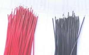 200ct Precut /Stripped 30 AWG wire 30 gauge100pcs Red and 100pcs Black USA s/h