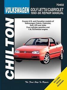 Volkswagen Golf , Jetta and Cabriolet - Chilton Repair Manual
