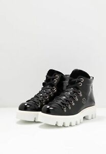 BOGNER Damen Schuhe Winterschuhe Boots Copenhagen 1D / Schwarz / Lack Leder