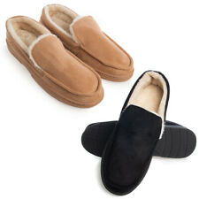 Gold Toe Mens House Slippers Memory Foam Indoor Outdoor Warm Loafers Slip On