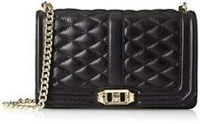 NWT REBECCA MINKOFF Love Quilted Crossbody ~ Black/Gold