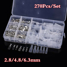 270x Motorcycle Wire Terminal Crimp Connector & Insulated Sleeve Assortment Kit