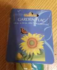 """NEW ☆ YARD GARDEN FLAG 18"""" X 24 SUNFLOWERS WITH BUTTERFLY"""