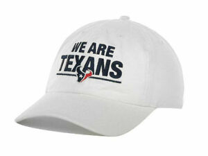 Houston Texans 47 Brand We Are Texans white adjustable cap NFL hat one size