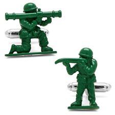 Ufficiale Verde Esercito giocattolo soldato SILVER PLATED GEMELLI-Boxed militare da uomo