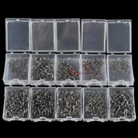 Fishing Hooks Strong Steel Assorted Size Versatile Bait Soft Lure Fly Tying Carp