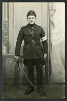Estonian Officer Armored Train with Sword Liberation War Nice Condition !!!