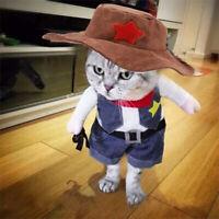 Pet Cosplay Costume Dog Cat Puppy Coat Clothes Apparel Warm Suit Cowboy