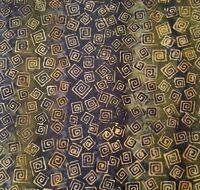 Green Tea Batik BTY Princess Mirah Design Bali Fabrics Olive Tan Navy Greek Key