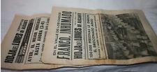 2 PERIODICOS LA HOJA DEL LUNES DE ALICANTE 24 NOV. 1975 FRANCO INHUMADO, DEPORTE