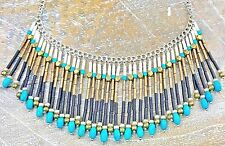 SILPADA Fringe Brass Howlite Bead 925 Sterling Silver Necklace N3343 Retired