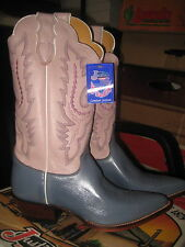 Justin Western  Womens  Boots L2654 PINK POINTY ROUND SIZE 7 B New