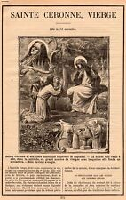 SAINTE CERONNE VIERGE RELIGION ARTICLE PRESSE 1900 CLIPPING