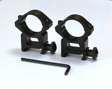"2 rifle scope mounts. Fit 25mm/1"" diameter rifle scope tube & 20mm dovetail rail"