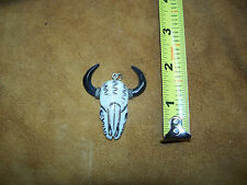 1  white bone buffalo skull pendant,  earrings,jewelry..From buffalo skull man