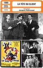 FICHE CINEMA : LA TETE DU CLIENT - Serrault,Poiret,Desmarets,Poitrenaud 1965