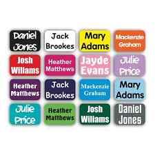 50 x 22 x 15 mm personalizzata Stick On nome etichette Scuola Kids Impermeabile