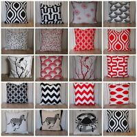 UK Cushion Cover Cotton 100% Sofa Home Decor Multi themes Animals and Arts 18""