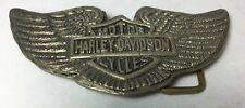 Vintage Harley Davidson Belt Buckle Motorcycle Wings Brass