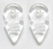 2 CZECH GLASS BERBER CHARMS / PENDANTS / AMULETS, TALHAKIMT, CRYSTAL, 19 X 9 MM