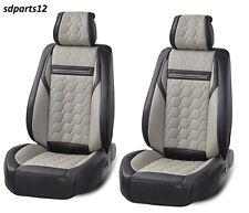 Housse de siège d'auto en cuir PU gris-noir pour Nissan Navara Qashqai Juke