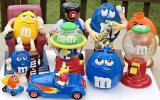 M&M's Candy Collection Large Dispenser's LOT 10 Lg BLUE Yellow GREEN Orange RED