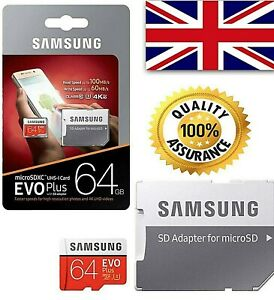 Samsung style Memory 64GB class 10 EVO Plus Micro SD card with Adapter  ☎️📱💻