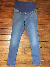 Topshop Moto Leigh Skinny Maternity Jeans Over Bump Blue Sz 10 L32 Defect 21 #