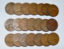MEXICO lot 20 CENTAVOS vintage bronze world 1943 - 1974 snake 21 PYRAMID COINS