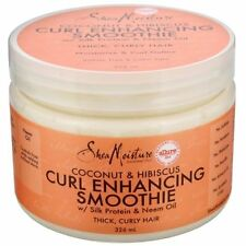 NEW Shea Moisture Coconut & Hibiscus Curl Enhancing Smoothie 326ml for women