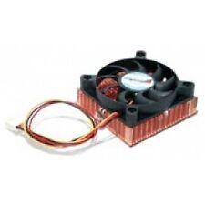 1U 60x10mm Socket 7/370 CPU Cooler Fan with Copper Heatsink & TX3