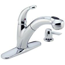 Delta Cicero Pull-Out Sprayer Kitchen Faucet w/Soap Dispenser in Chrome