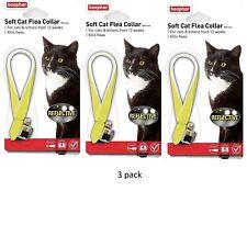 Gatto Gattini Collare Antipulci Morbido Riflettente fluorescente velluto Beaphar