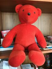 """Vintage North American Bear Co 20"""" VIB Red Collectible Plush 1979 Barb Isenberg"""