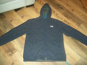 The Noirth Face Hooded Fleece Jacket L Mens (Thick Fleece Lined)