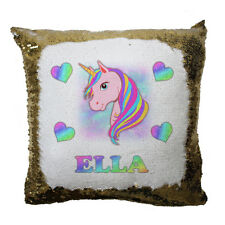 Personalised Magic Unicorn Sequin Cushion With Any Name