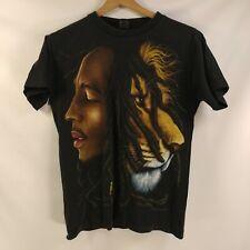 Bob Marley 2 Sided Graphic T Shirt Single Stitch Lion Medium
