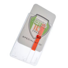 Rigid Hard Plastic Vertical Badge Holder With Slide Out Tab By Specialist Id